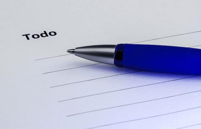 une to do list est un outil efficace pour s'organiser