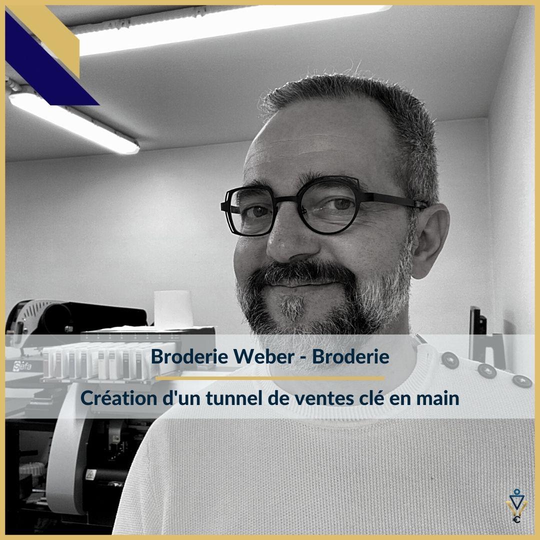 Broderie Weber - Création d'un tunnel de ventes clé en main- ERO Corp - Agence de tunnel de ventes et optimisation avec Funnelytics