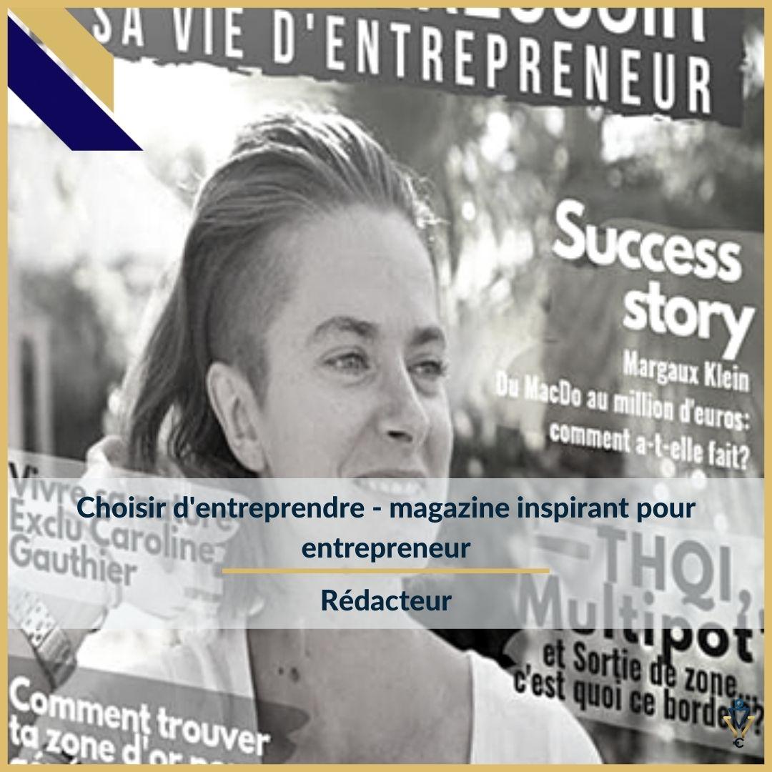 Choisir d'entreprendre - Rédacteur- ERO Corp - Agence de tunnel de ventes et optimisation avec Funnelytics
