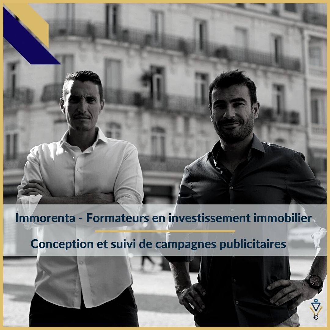 Immorenta - Conception et suivi de campagnes publicitaires- ERO Corp - Agence de tunnel de ventes et optimisation avec Funnelytics