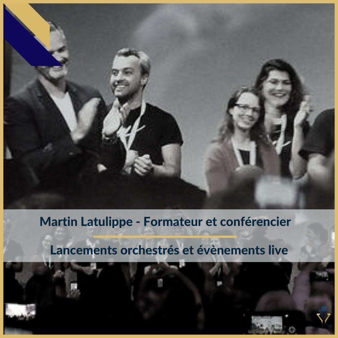 Martin Latulippe - Lancements orchestrés et événements live- ERO Corp - Agence de tunnel de ventes et optimisation avec Funnelytics