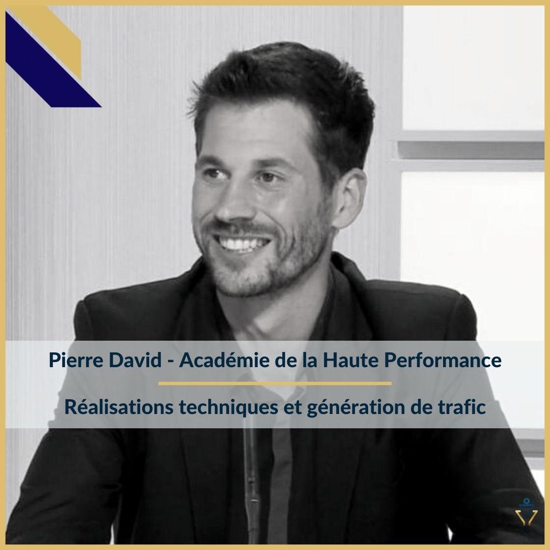Pierre David - Réalisations techniques et génération de trafic - ERO Corp - Agence de tunnel de ventes et optimisation avec Funnelytics