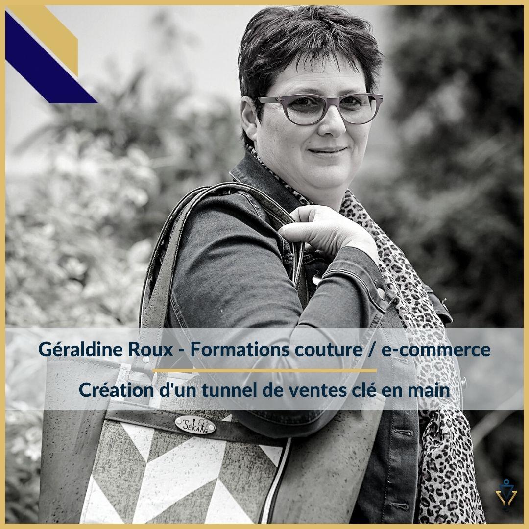Géraldine Roux - Création d'un tunnel de ventes clé en mainERO Corp - Agence de tunnel de ventes et optimisation avec Funnelytics