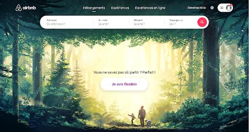 page de capture de Airbnb