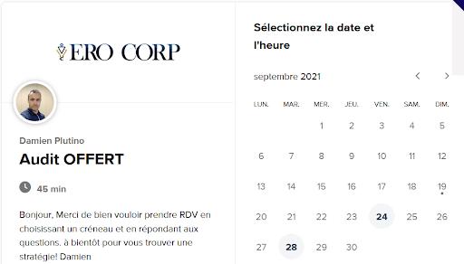 Exemple d'une session stratégique sur le site ero-corp.com